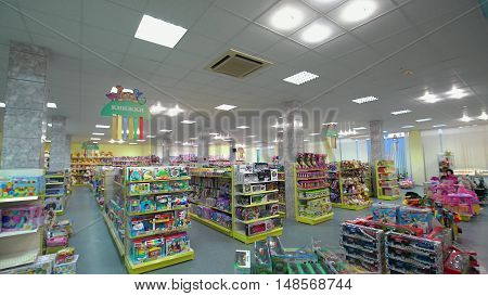 LUBLIN, POLAND - JUN 2016: Toys on The Shelves at the Store.