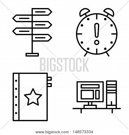 Set Of Project Management Icons On Decision Making, Deadline And Quality Management. Project Managem