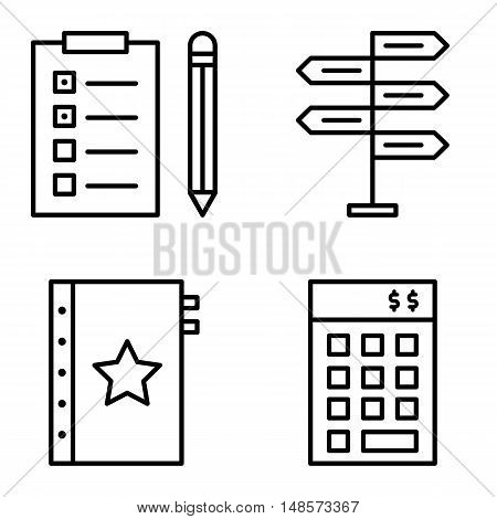 Set Of Project Management Icons On Decision Making, Task List And Investment. Project Management Vec