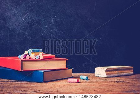 Education background concept with old books .
