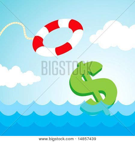 Lifebuoy And A Dollar Sign
