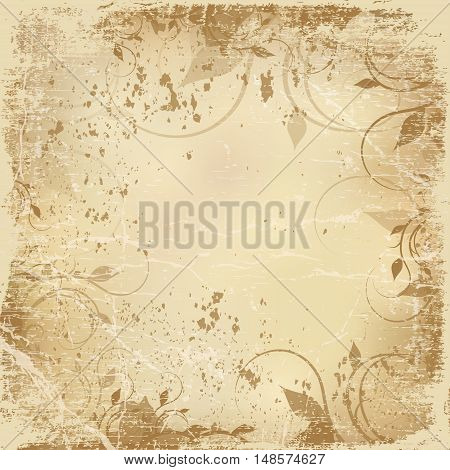 vintage shabby background with classy patterns old