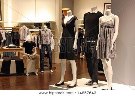 Venta de ropa de moda Mostrar la ropa para la venta