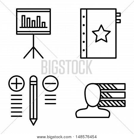 Set Of Project Management Icons On Personality, Best Solution And Quality Management. Project Manage