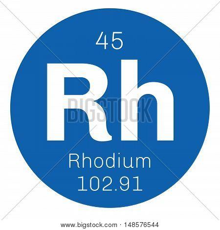 Rhodium Chemical Element