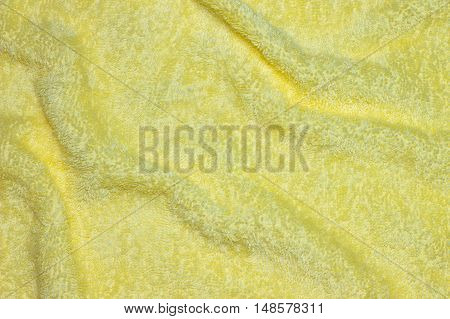 Yellow towel / Beautifully Lit Yellow Fabric Texture