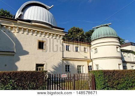 The observatory on Petrin Hill Prague Czech Republic.