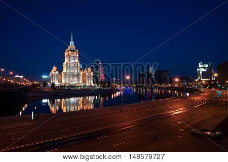 Hotel Ukraine, Moscow, Russia Seven sisters, soviet skyscraper
