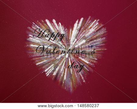 beautiful card happy Valentines day with heart