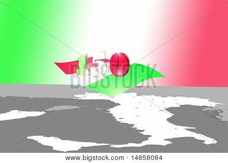 Italy. 150° Anniversary Unity