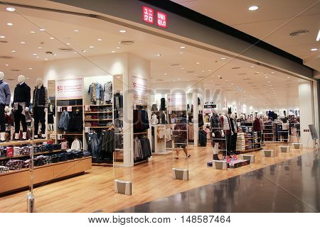 CHIANGMAI THAILAND -SEPTEMBER 15 2016: Uniqlo store. Uniqlo Co. Ltd. is a Japanese casual wear designer manufacturer and retailer. Photo at Central Festival chiang mai.