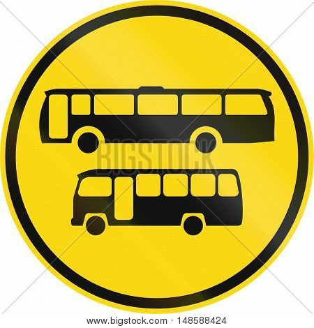 Temporary Road Sign Used In The African Country Of Botswana - Buses And Midi-buses Only