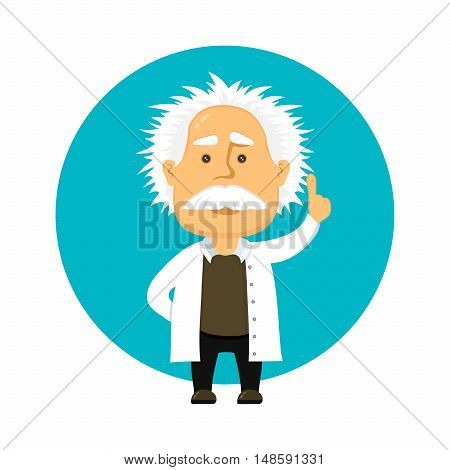 scienest flat design cartoon character illustration. isolated on white background