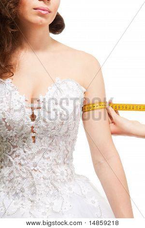 Measuring Woman's Arm Size
