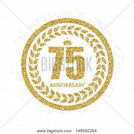 Template Logo 75 Years Anniversary Vector Illustration EPS10