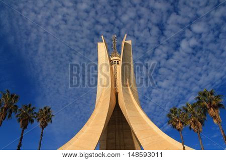 Martyrs' Memorial of Algiers, iconic concrete monument commemorating the Algerian war for independence