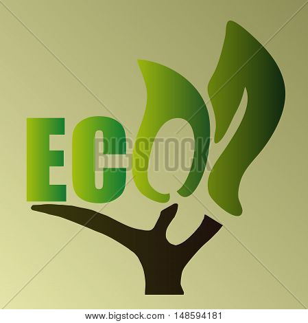 High quality original illustration of eco for web design business or other needs