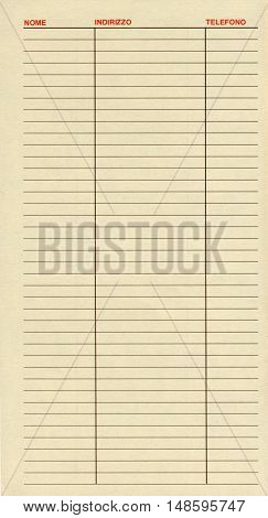 Blank Address Book