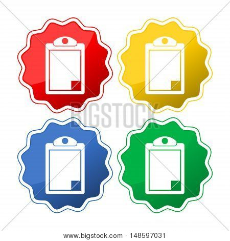 Checklist set four colors on white background
