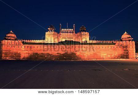Delhi Red Fort in New Delhi, India