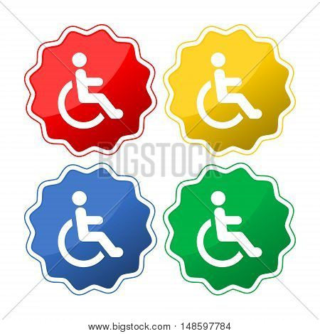 Disabled Icon, Disabled Icon Eps10, four colors