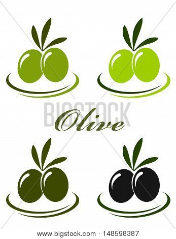Set With Colorful Olives