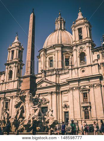 Piazza Navona Rome Italy.