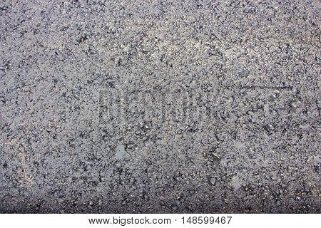 Freshly Laid Black Tar Asphalt Pavement Close-up