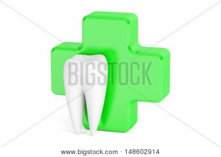 dental care concept 3D rendering isolated on white background