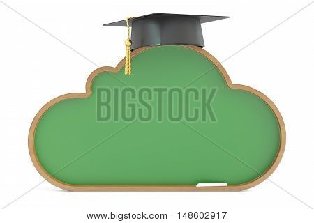 Education and study online 3d rendering on white background