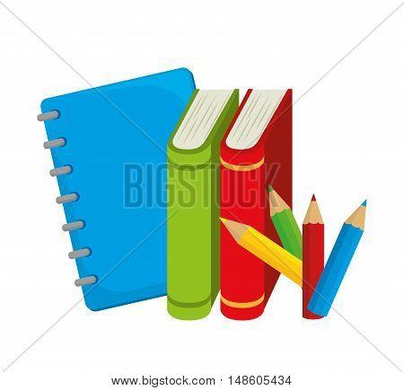 books colors study school desing vector illustration eps 10