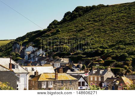 View down the old streets on Port Issac Cornwall