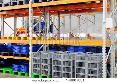 The image of a warehouse equipment