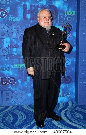 LOS ANGELES - SEP 18:  George R.R. Martin at the 2016  HBO Emmy After Party at the Pacific Design Center on September 18, 2016 in West Hollywood, CA