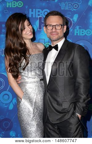 LOS ANGELES - SEP 18:  Brittany Lopez, Christian Slater at the 2016  HBO Emmy After Party at the Pacific Design Center on September 18, 2016 in West Hollywood, CA