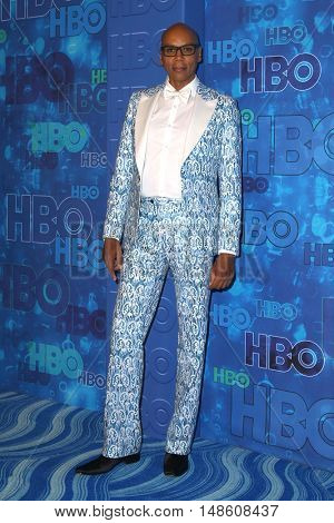 LOS ANGELES - SEP 18:  RuPaul Charles at the 2016  HBO Emmy After Party at the Pacific Design Center on September 18, 2016 in West Hollywood, CA