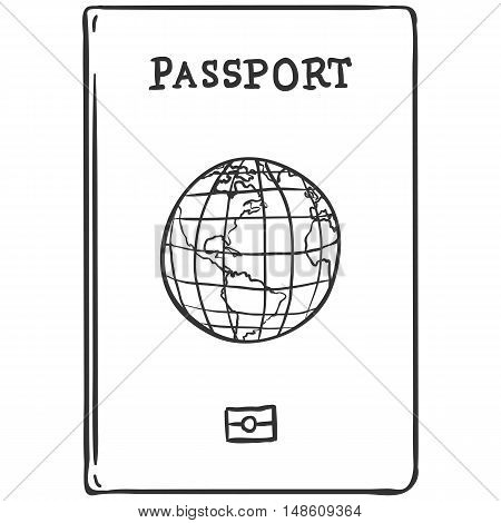Vector Single Sketch Passport