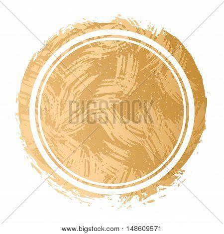 Vector gold metallic patch foil background texture