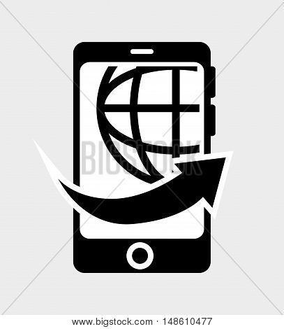 smartphone technology worldwide isolated vector illustration eps 10