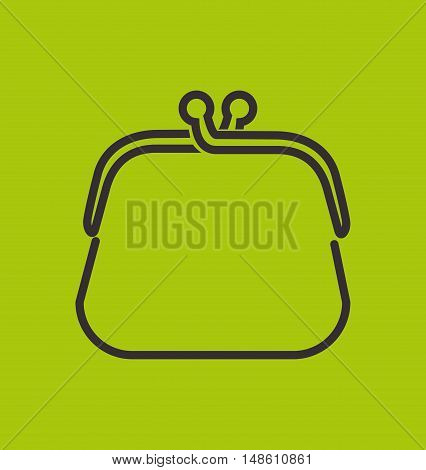 purse white money currency isolated vector illustration eps 10