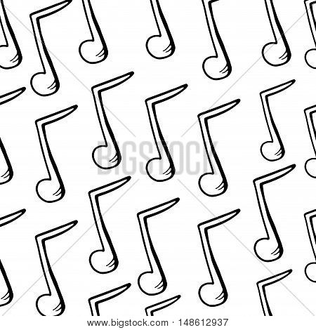musical note background. music symbol. drawn design vector illustration