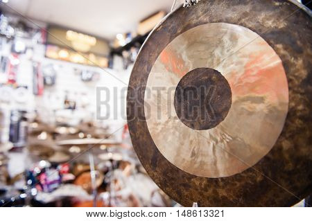 Gong Percussion Instrument Close Up