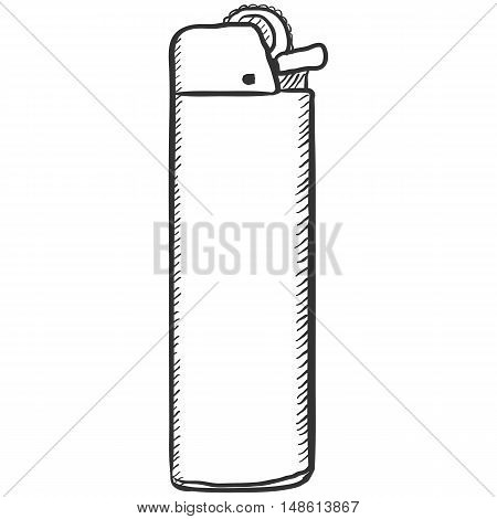 Vector Single Sketch Disposable Lighter