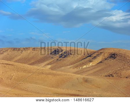 Israel desert on a sunny day in the winter season.
