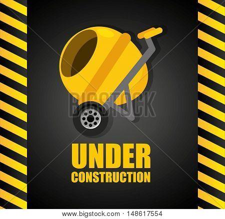 under construction flat icons vector illustration design