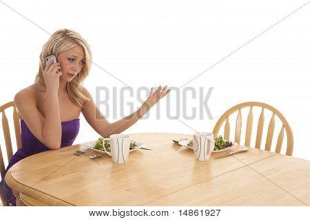 Abendessen Taliking Telefon