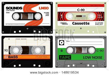 Audio Plastic Cassette Tapes