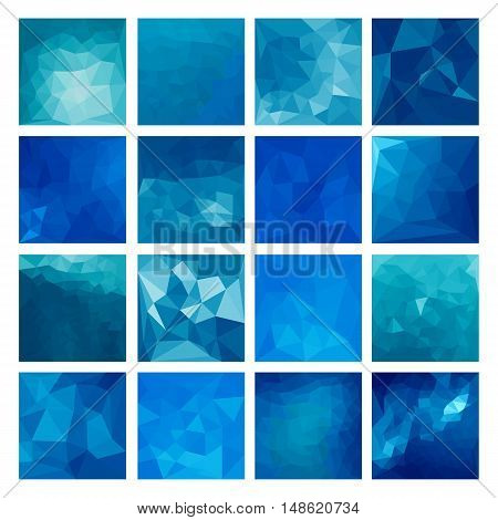 Polygonal vector design. Abstract backgrounds Geometric illustration