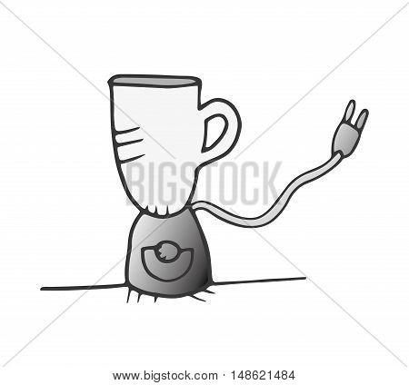 coffee maker machine kitchen utensil. drawn design. vector illustration