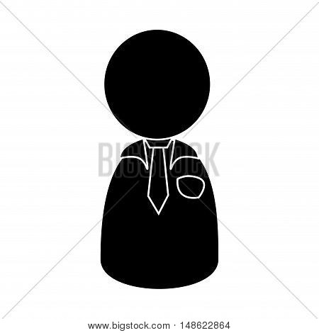 avatar man with tie. male person user. silhouette vector illustration
